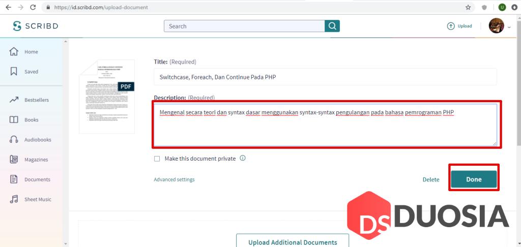 Cara Downlod File Scribd Gratis dan Mudah