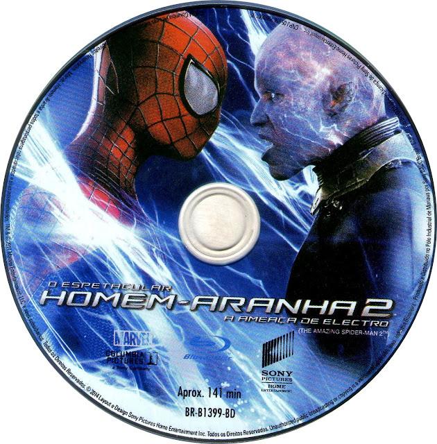 Label Bluray O Espetacular Homem-Aranha 2 A Ameaça De Electro
