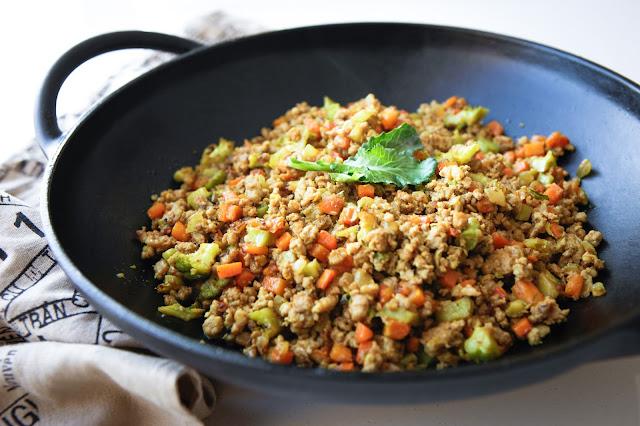 Turmeric Stir Fried Mince & Vegetables