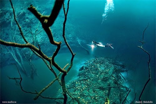 Mystical Underwater River in Mexico