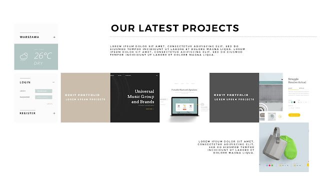 Free PowerPoint Templates with Professional Latest Projects Presentation Slide 1