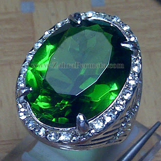 Cincin Batu Permata Green Tektite - ZP 957