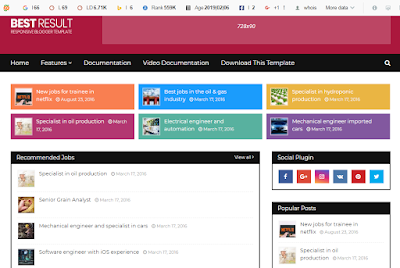 Sarkari Result Blogger Template