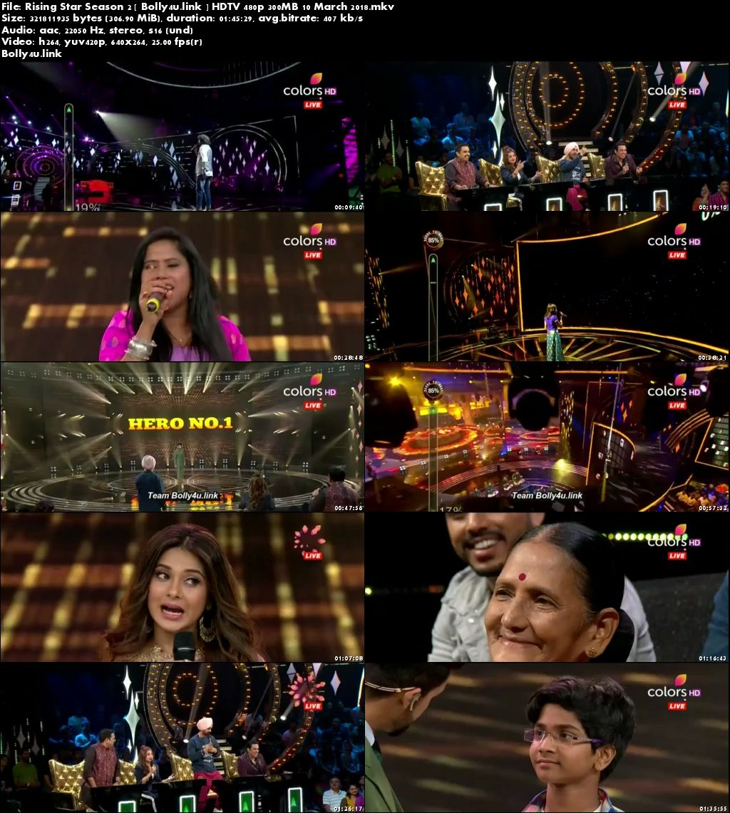 Rising Star Season 2 HDTV 480p 300MB 10 March 2018 Download