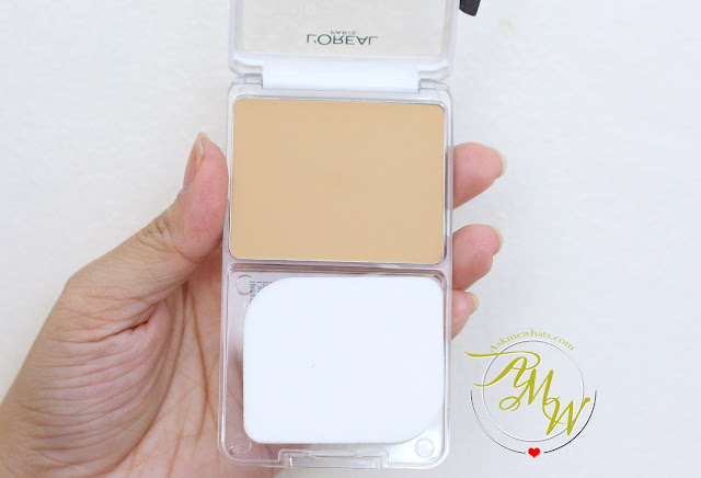 a photo of  L'Oreal True Match Genius 4-in-1 Primer Foundation Concealer Powder in shade G1 Gold Ivory.