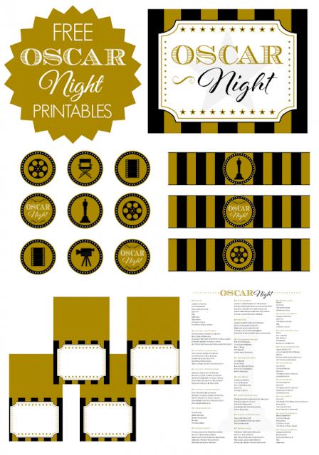 Kit de la Noche de los Oscars para Imprimir Gratis.