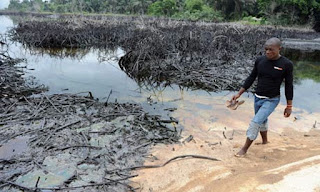 Oil spill in Ogoni land