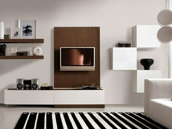 Estupendas salas modernas de tv colores en casa for Disenos de salas modernas