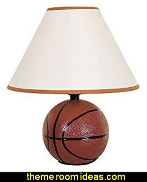 Basketball table Lamps  basketball bedroom ideas - Basketball Decor - basketball wall murals - basketball bedding - basketball wall decal stickers - basketball themed bedrooms - basketball bedroom furniture - basketball wall decorations - Basketball wall art - Basketball themed rooms - basketball bedroom furniture - NBA bedding - Boys basketball theme