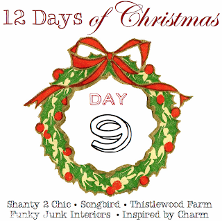 12 Days of Christmas, Day 9 via Funky Junk Interiors