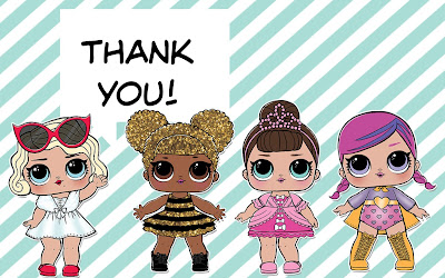 L.O.L. surprise dolls thank you cards