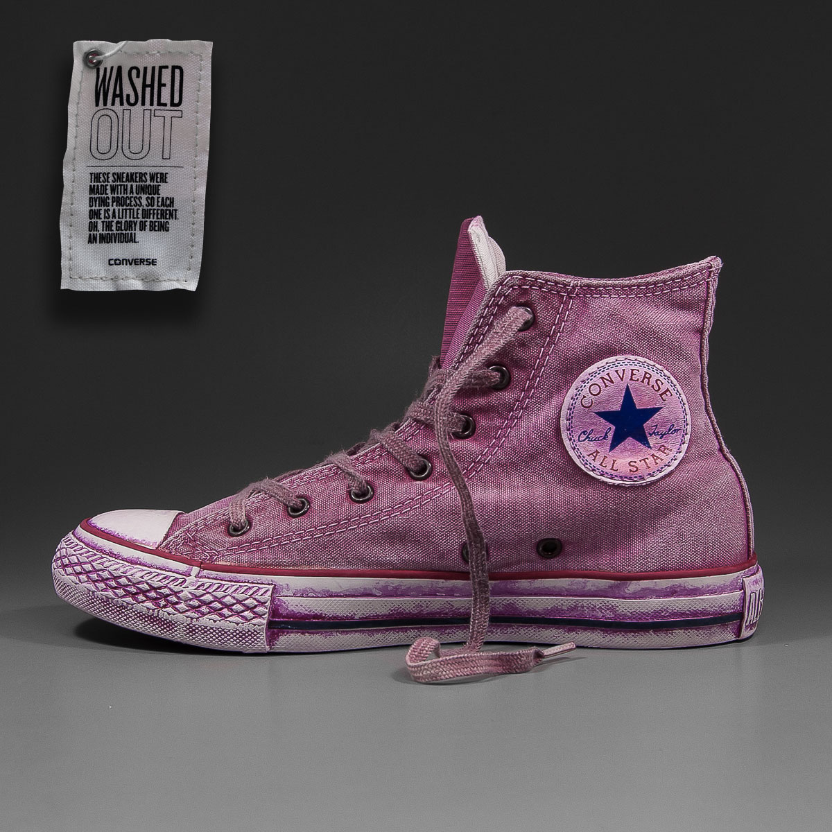 9052ed7c0172 SOLEKITCHEN  Converse - All Star Hi Premium Washed - dark purple