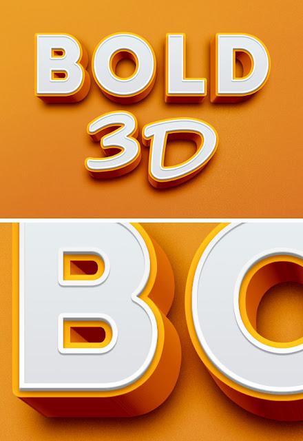 crear texto 3D en photoshop