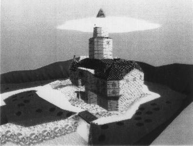 A secondary ariel view of Princess Peach's original castle.
