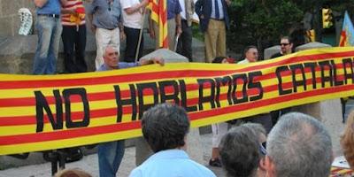 Pnhc, plataforma no hablamos catalán, no parlem catalá, yo parlo chapurriau