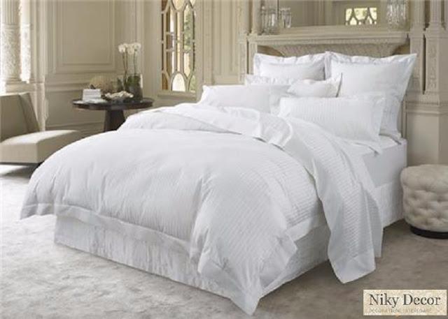 Producator lenjerii de pat damasc pentru hotel - Lenjerii de Pat damasc satinat in dungi