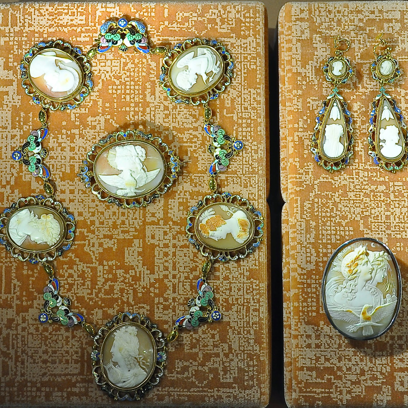 A cameo set in the Museum of the Jewellery in Vicenza