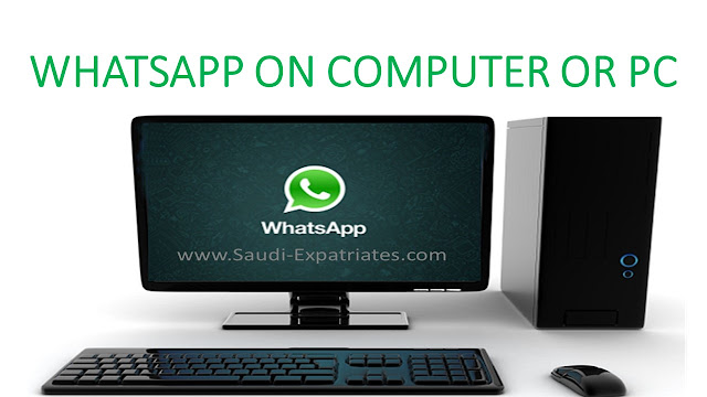 WHATSAPP ON COMPUTER OR WINDOWS PC