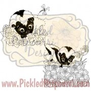 Shy Skunks Digital Stamp
