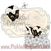 Shy Skunks Digital Stamp