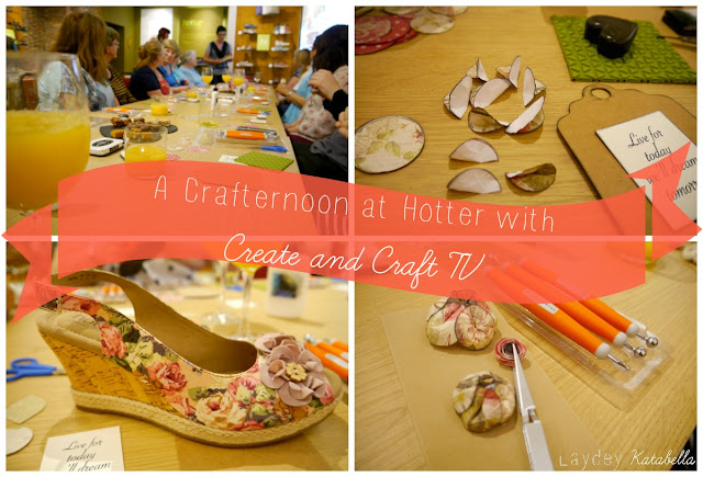 craft workshop at Hotter shoes Peterborough with create and craft tv