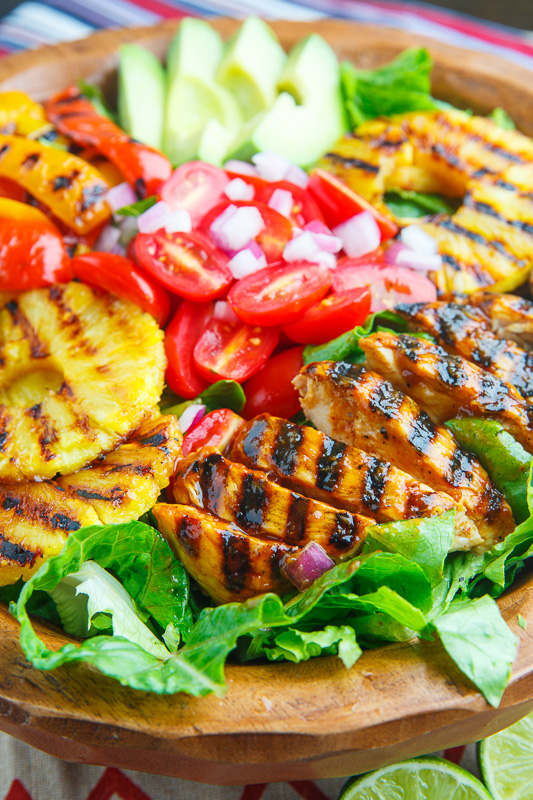 Sriracha Honey Lime Grilled Chicken and Pineapple Salad on Closet ...