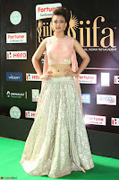 Akshara Haasan in Peachy Crop Top Choli Skirt at IIFA Utsavam Awards 83.JPG