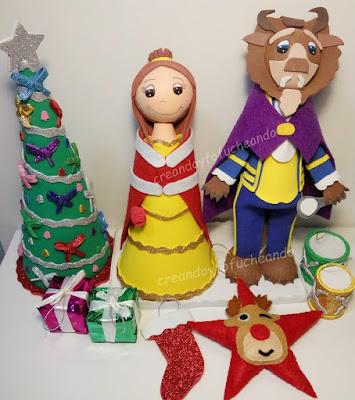 fofuchos-bella-y-bestia-navideños-creandoyfofucheando