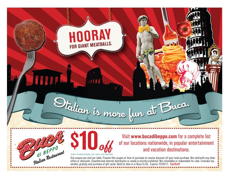 Knowkohls Blogspot Com Buca Di Beppo Coupons 10 Off Of 20 Unlimited Print Aug 2011