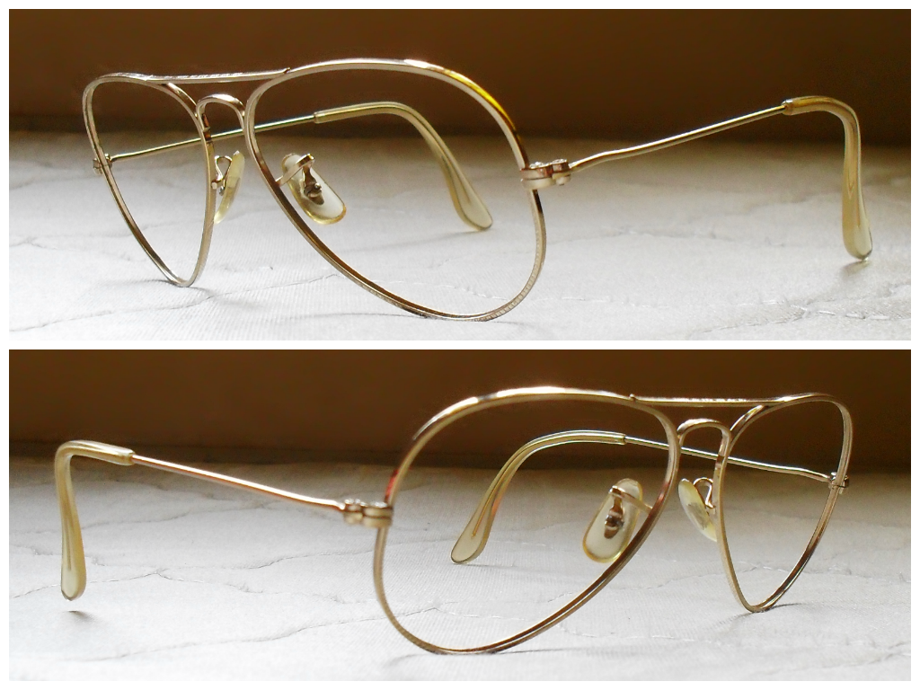 5917c3a7aee SOLD OUT ~ RAY BAN AVIATOR BL USA L.I.C 56 14 FRAME ONLY `RARE SIZE` PUNCH  ON TOP