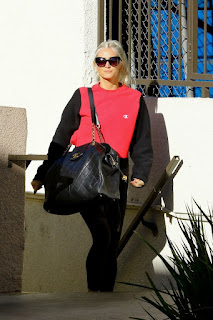 Ashlee Simpson Arrives At A Gym In Studio City