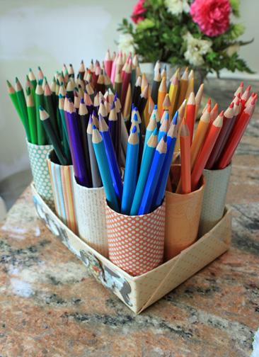 My Great Challenge: DIY Colored Pencil Organizer
