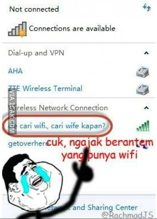 Kumpulan Nama Wifi Paling Lucu   Humor Lucu Banget