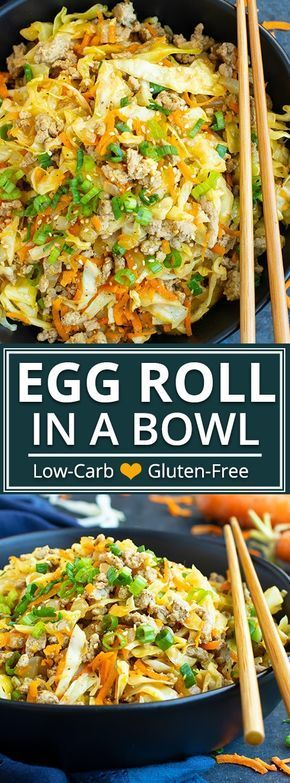 This Egg Roll in a Bowl recipe is loaded with Asian flavor and is a Paleo, Whole30, gluten-free, dairy-free and keto recipe to make for an easy weeknight dinner.  From start to finish, you can have this healthy and low-carb dinner recipe ready in under 30 minutes!