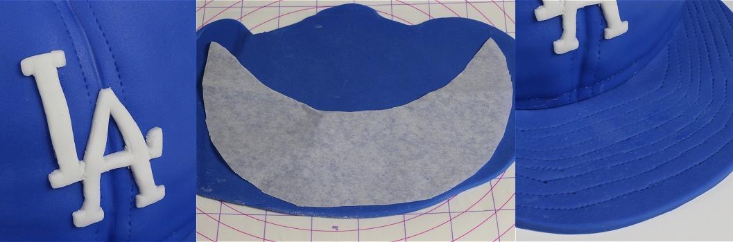 Baseball Cap Cake - Baseballkappen-Motivtorte - Kappen-Torte Anleitung 11