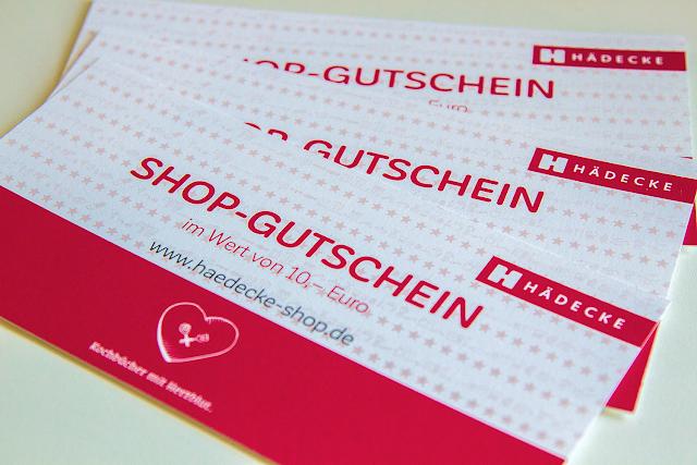 Drei mal ein Gutschein für den Online-Shop des Hädecke Verlags