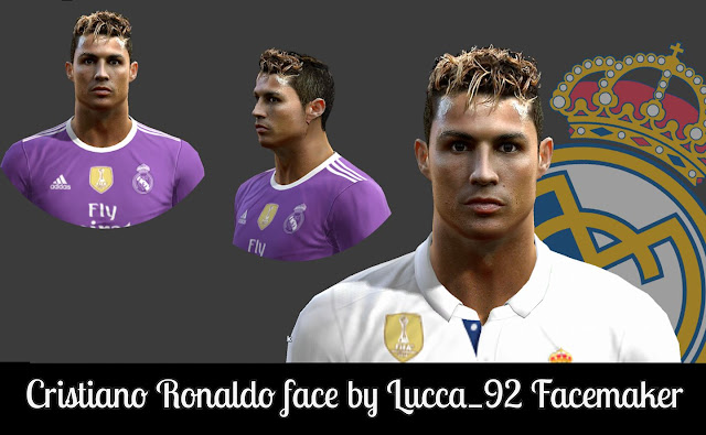 PES 2013 Cristiano Ronaldo face by Lucca_92 Facemaker