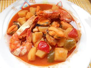 540° Receta: Guiso De Patatas Con Mejillones Y Gambones