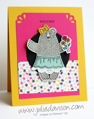 "Stampin' Up! Bear Hugs ""You're So Sweet"" Card #stampinup 2016 Occasions Catalog www.juliedavison.com"