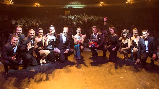 """Andrea Ghidone festejó los 10.000 espectadores de """"Madame Tango"""" en el Lola Membrives"""