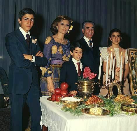 Crown King Az >> Amazing Window: Pahlavi family on new year with Haftsin table
