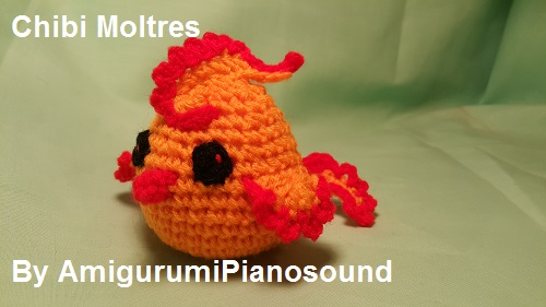 Amigurumipianosound Crochet Blog Chibi Moltres Pokemon Free Crochet