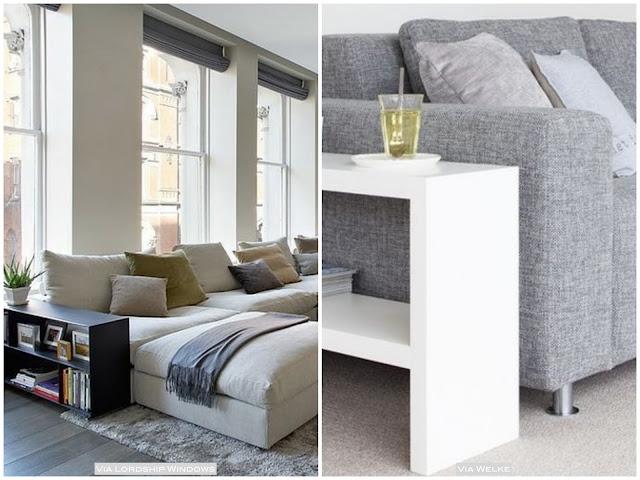 idéias de mesa lateral sofá