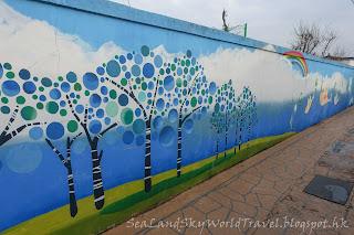 慶州月城洞壁畫街
