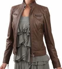 Jual jaket kulit wanita modis