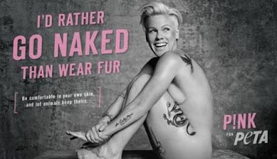 Pink, desnuda en defensa de los animales