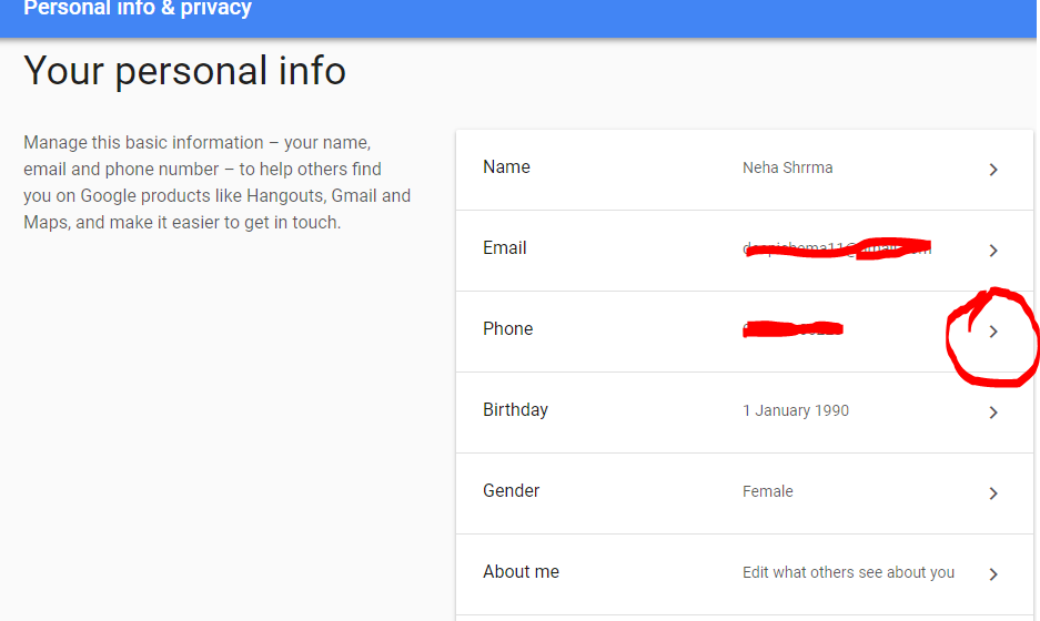 How To Change Gmail Mobile Number