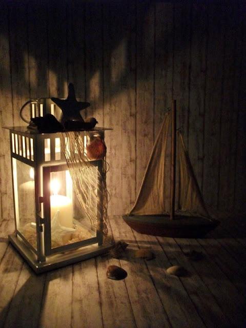 Tutorial Lanterna DIY in Stile Coastal con Conchiglie - notte - MLI
