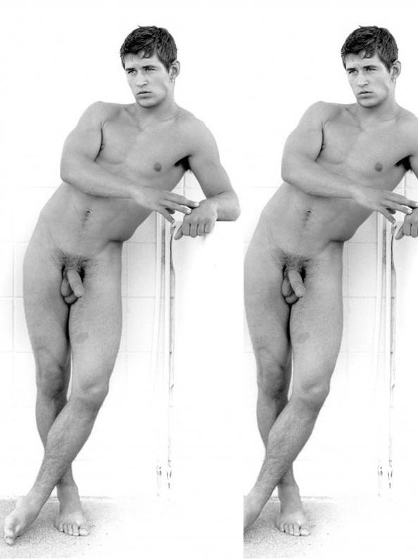 Nude women and guy model