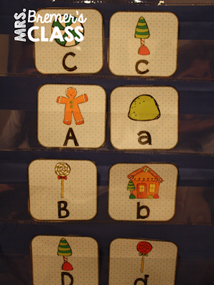 Fun Gingerbread Man themed literacy center activities for Kindergarten and 1st Grade! Includes practice with letter recognition, sounds, rhyme, syllables, and more. Common Core aligned. Packed with fun literacy ideas and hands on activities for Kindergarten and First Grade centers at Christmas. #kindergarten #literacy #kindergartencenters #1stgrade #centers #alphabet #phonics #literacycenters #christmascenters #gingerbreadman